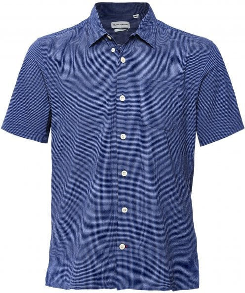 Oliver Spencer Relaxed Fit Short Sleeve Check Hawaiian Shirt