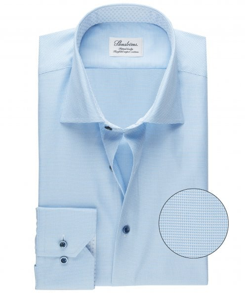 Stenstroms Fitted Body Micro Pattern Shirt