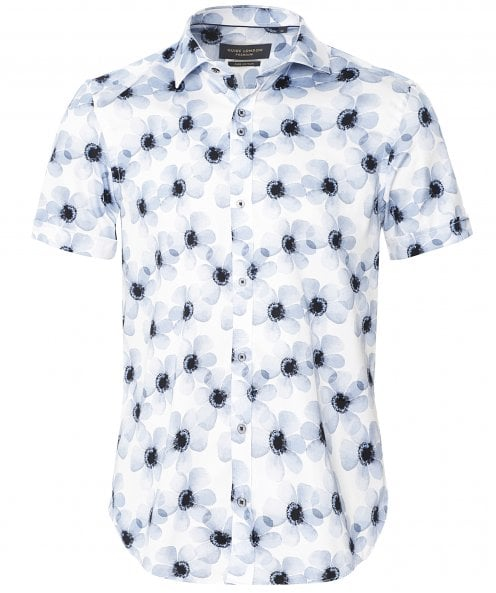 Guide London Short Sleeve Floral Shirt