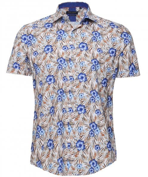 Guide London Short Sleeve Vibrant Floral Shirt