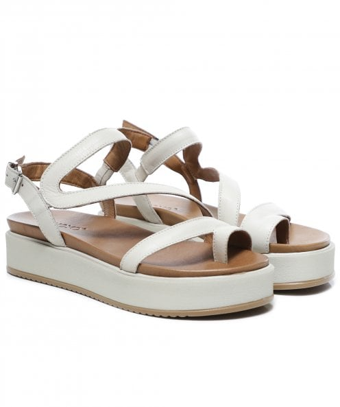 Inuovo Leather Toe Post Flatform Sandals