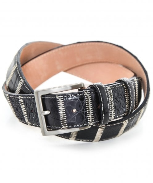 Robert Charles Leather Patchwork Belt 35mm