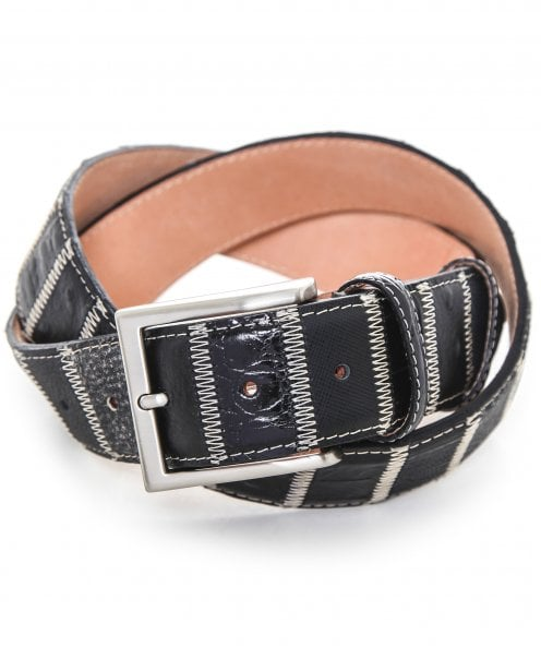 Robert Charles Leather Patchwork Belt 40mm