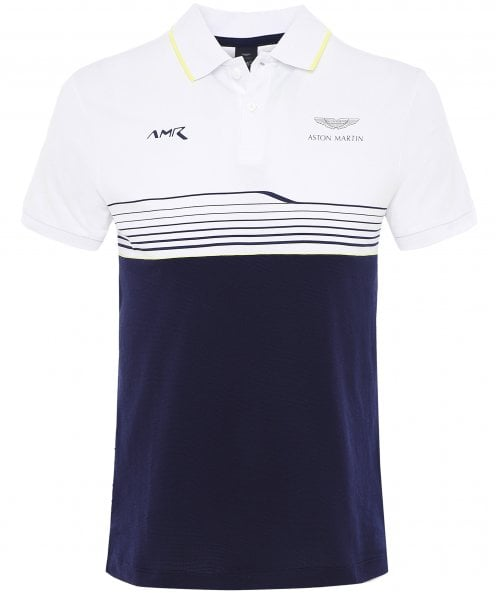Hackett Slim Fit Striped Colour Block Polo Shirt