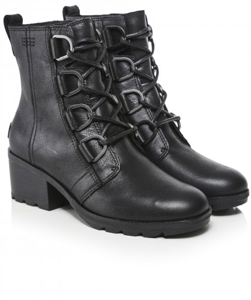 Sorel Cate Leather Lace Ankle Boots