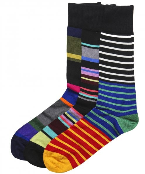 Paul Smith Striped Socks Three Pack