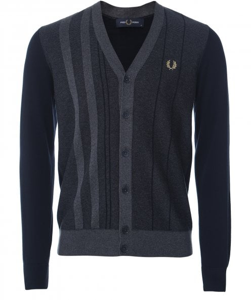 Fred Perry Textured Stripe Cardigan K1532 608