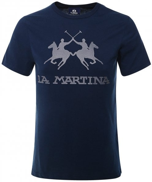 La Martina Crew Neck Big Logo T-Shirt