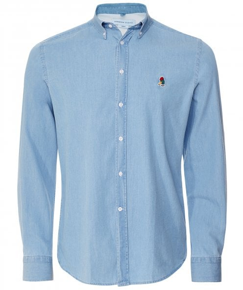Edmmond Studios Regular Fit Denim Duck Shirt
