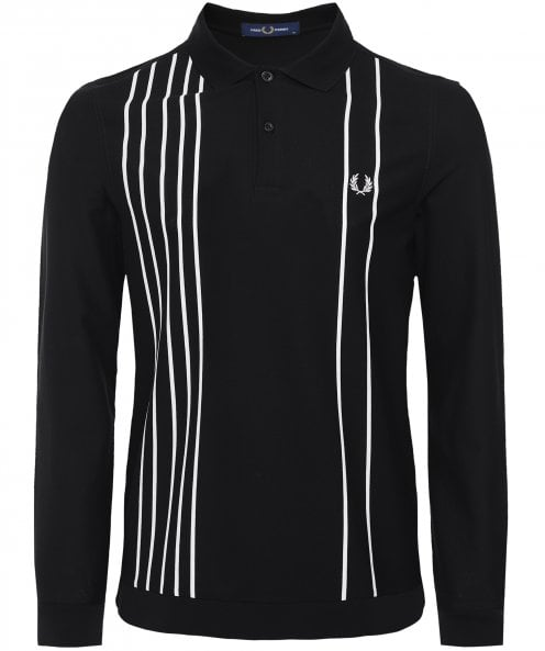 Fred Perry Refined Pique Striped Polo Shirt M1706 102