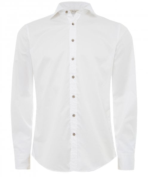 Stenstroms Fitted Body Washed Shirt