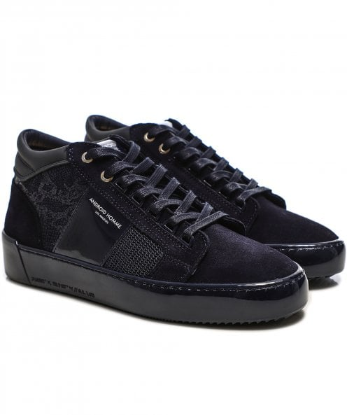 Android Homme Leather Camo Propulsion Mid Geo Trainers