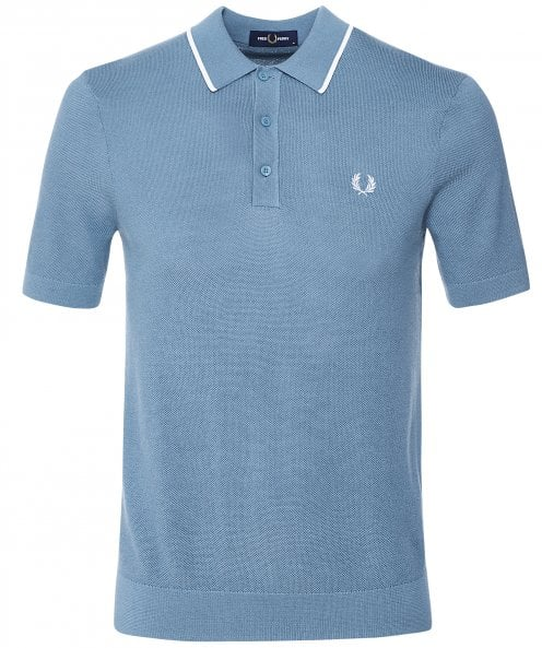 Fred Perry Tipped Knitted Polo Shirt K9560 N11