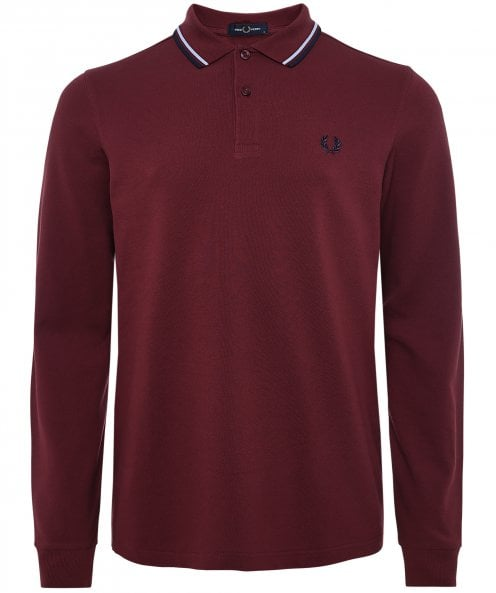 Fred Perry Long Sleeve Twin Tipped Polo Shirt M3636 D23