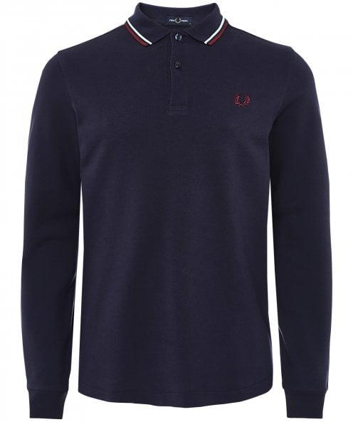 Fred Perry Long Sleeve Twin Tipped Polo Shirt M3636 N50